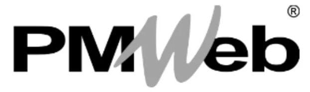 black and white PM Web logo